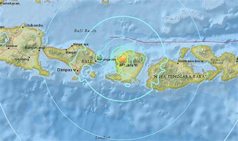 bali earthquake map   lombok  close  lombok