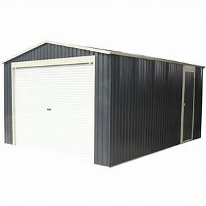 Garage metal anthracite 1952m2 porte enroulable kit d for Porte de garage enroulable de plus porte bois