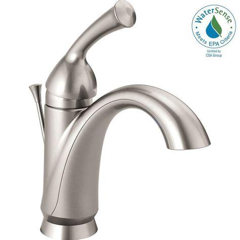 bathroom sink lever taps delta haywood single hole single handle bathroom faucet in