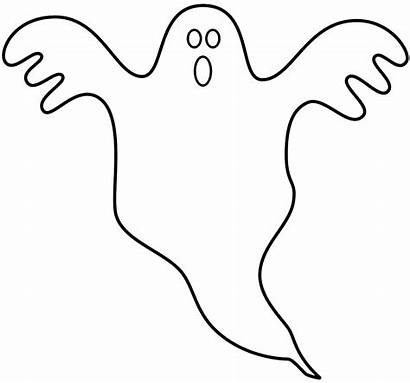 Ghost Coloring Halloween Pages Cartoon Ghosts Printable