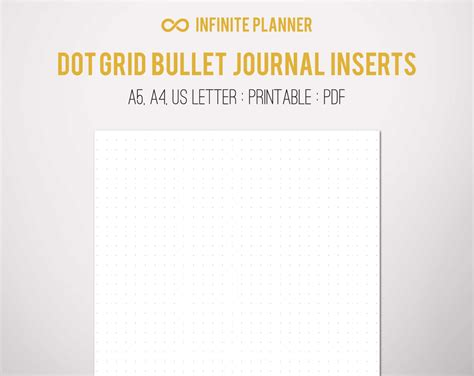 bullet journal dotted templates a5 dot grid page bullet journal printable