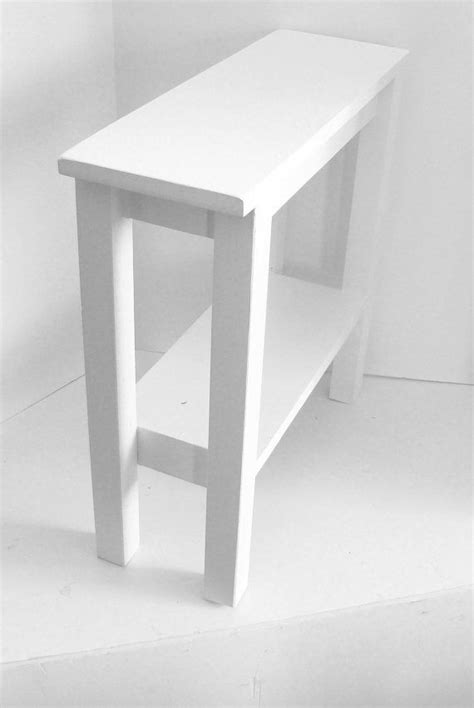 Modern Table Side Table Narrow Table White by