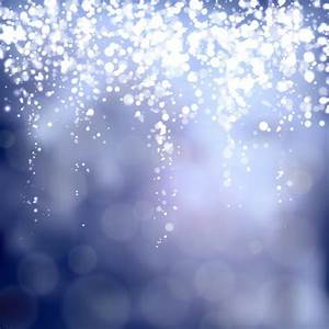 Blue blurred background with sparkling lights Vector ...