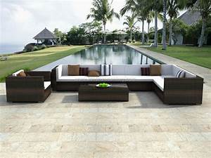 Architectural design modern rattan outdoor furniture for Outdoor white wicker furniture nice