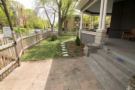 minneapolis paver patio city landscape