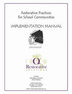 Implementation Guides For Restorative Practices