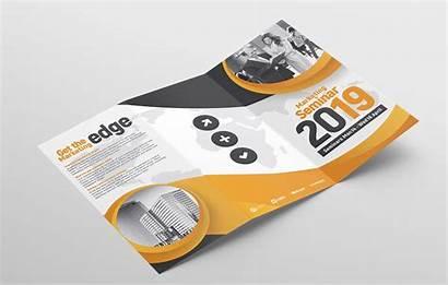 Fold Brochure Tri Template Seminar Templates Marketing