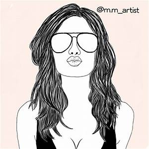 art, drawing, fashion, hair, outline, outlines, summer ...