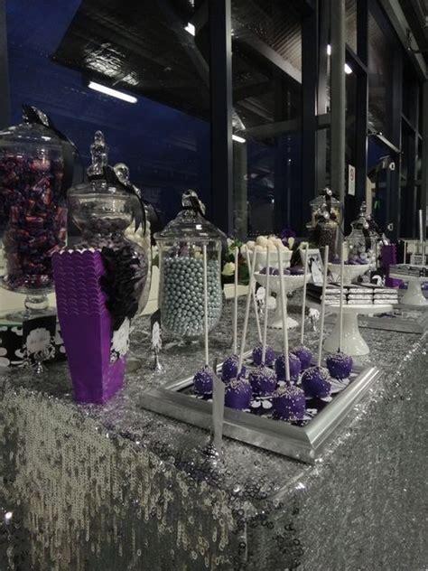 purple  silver party decorations purple  silver