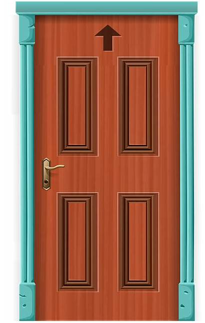 Door Entrance Vector Graphic Entry Clipart Cartoon