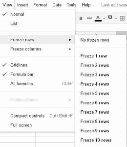 how can i create a fixed column header in google With google docs first page header