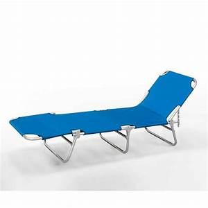 Transat De Plage : lit de plage pliant bain de soleil transat plage aluminium ~ Dode.kayakingforconservation.com Idées de Décoration