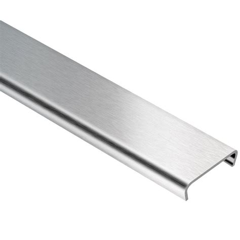 Schluter Tile Trim Home Depot by Schluter Designline Brushed Stainless Steel 1 4 In X 8 Ft