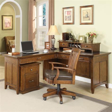 Riverside Oakton Village L Shaped Writing Computer Desk