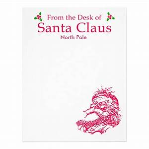 stationery from santa new calendar template site With santa claus letter stationary
