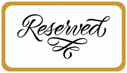 Reserved Signs Printable Letras Gratis Reservation Cursive