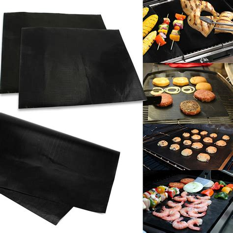 Grill Cooking Mats - lot of 2 mats easy bbq grill mat bake nonstick grilling
