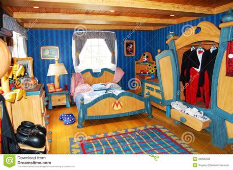 chambre mickey mickey mouse 39 s bedroom at disneyworld editorial stock