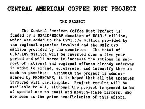 coffee rust central american again america deja vu