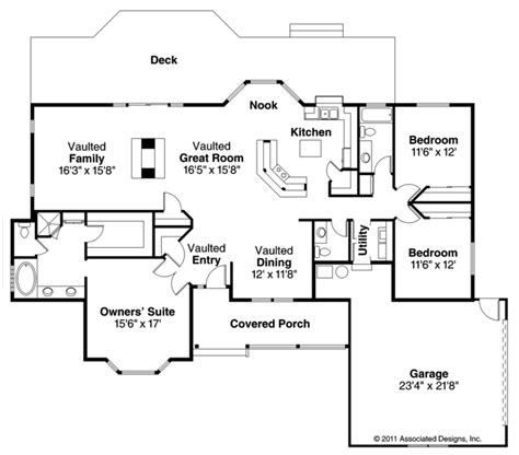 genius ranch style house plans ranch house plans eastport 10 548 associated designs