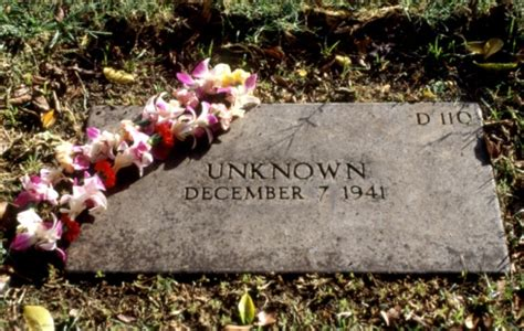 grave of unknown pearl harbor casualty 1991 archive