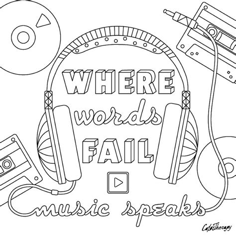 words fail  speaks coloring page  adult