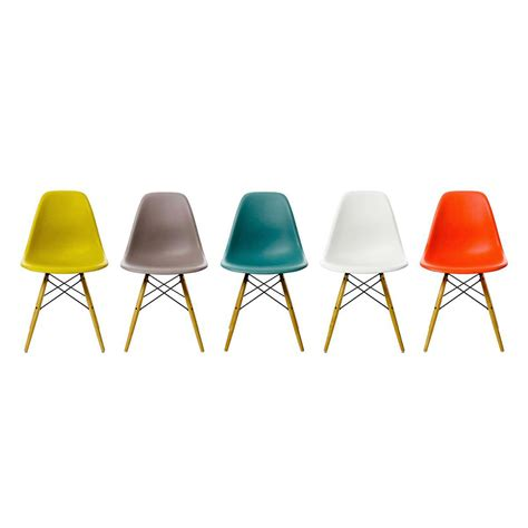 chaises couleur chaise dsw vitra trentotto mobilier design toulouse