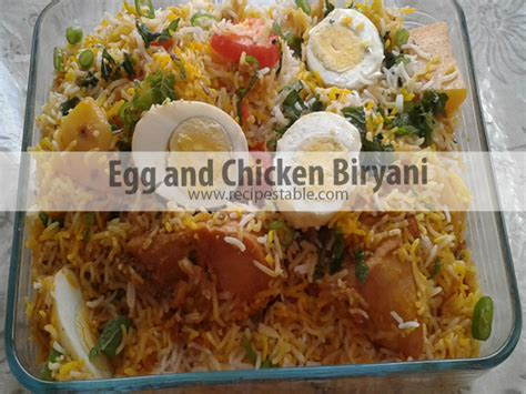 Egg And Chicken Biryani Recipe