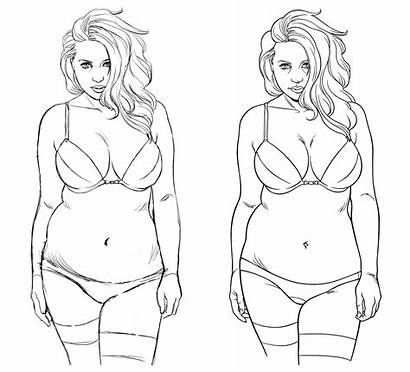 Curvy Drawing Woman Drawings Plus Eyes Behance