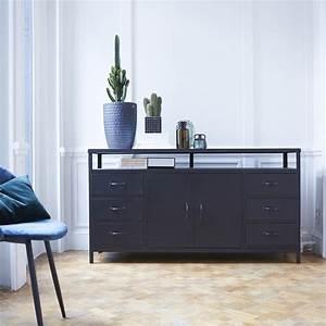 Meuble Sous Vasque Industriel : buffet tv en m tal meuble pour tele style industriel ~ Teatrodelosmanantiales.com Idées de Décoration