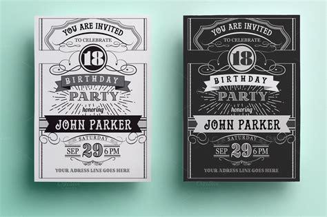 vintage birthday invitation invitation templates