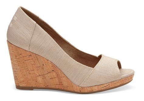 Toms Natural Yarn Dye Women's Stella Peep-toe