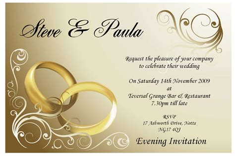 Invitation Cards Sparkling English