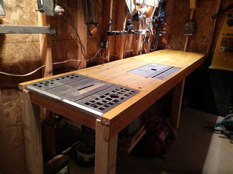 workbench  embedded table  planer  router
