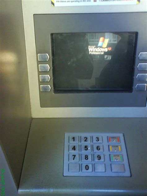 do atms running windows xp pose a security risk you can bank on it