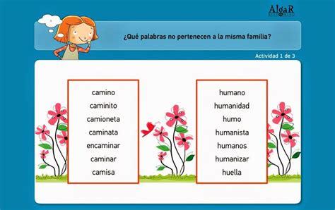Familia De Palabras  Lengua 2º Ciclo Aplicaciones