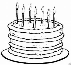 Torte Mit Sieben Kerzen Ausmalbild & Malvorlage (Gemischt)