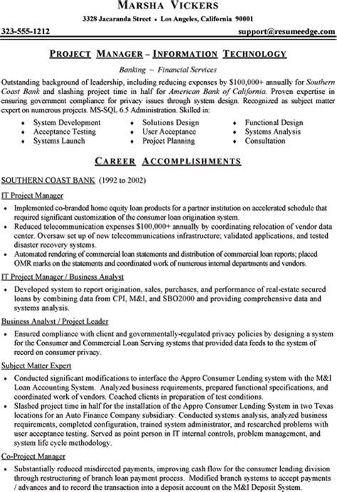 resume information technology manager doc 638826 mainframe project manager nicytk bizdoska com