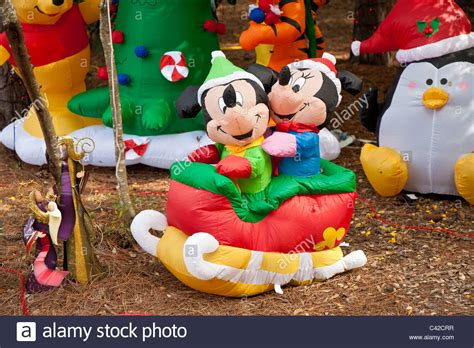 mickey  minnie mouse inflatable christmas holiday