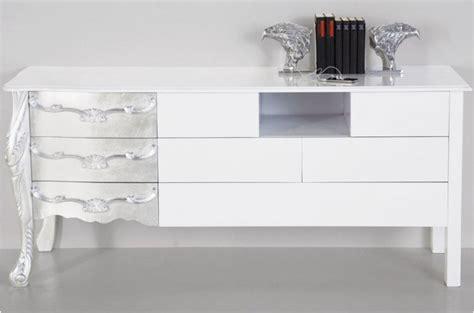 fabricant de meuble de cuisine buffet baroque blanc laqué et argenté buffet moderne