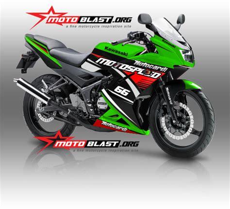 Motor Rr Se Orange Modifikasi by Modif Striping Kawasaki 150rr 2014 Green White
