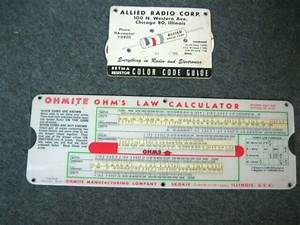 1949 Ohmite Ohms Law Parallel Resistance Calculator