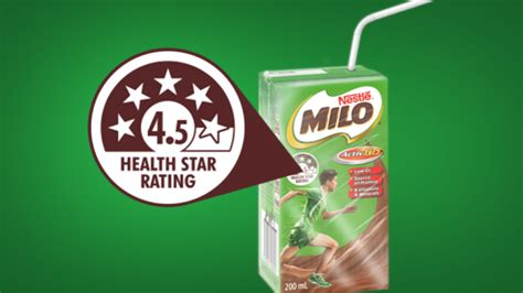 Milo Australian nestle is removing the health rating from milo