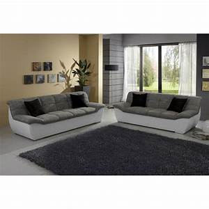 ensemble canape 2 places canape 3 places bi matiere With canapé 3 places pour chambre adulte originale