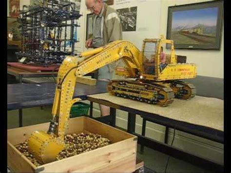 meccano excavator youtube