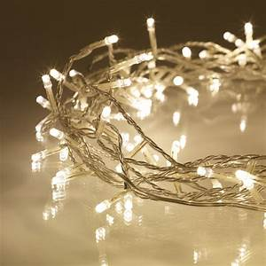 100, Warm, White, Led, Fairy, Lights, On, Clear, Cable