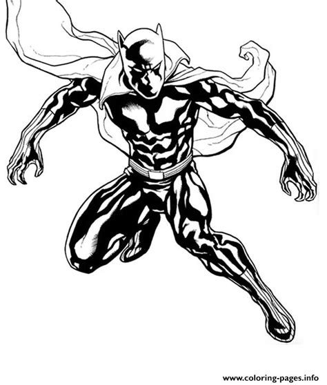 Kleurplaat Black Panther by Black Panther Marvel Heroes Coloring Pages Printable