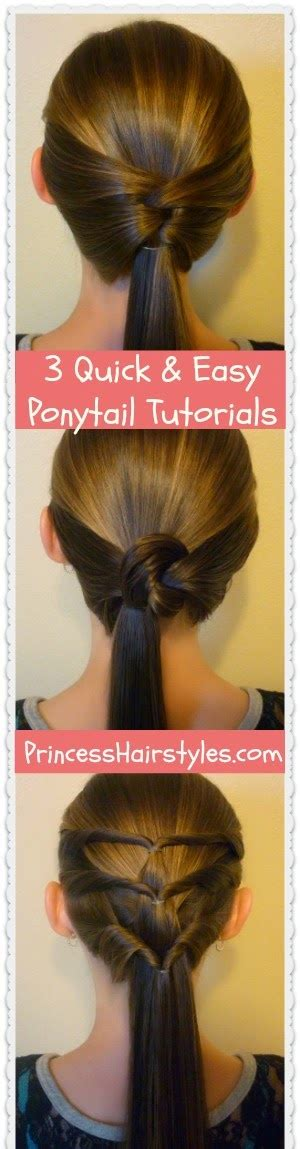 Easy Ponytail Hairstyles For by 24 Easy Hair Dos For How Does She