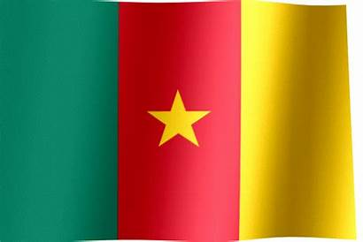 Cameroon Flag Waving Animated Flags Yellow