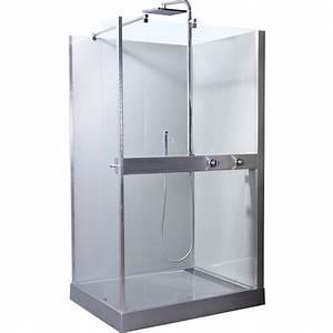 Cabine De Douche Rectangulaire : cabine de douche rectangulaire mood soldes douche leroy ~ Melissatoandfro.com Idées de Décoration